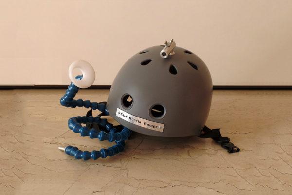 Flexible helmet headpointer