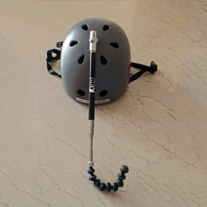 Telescopic helmet headpointer